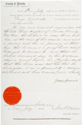 Militaria:Ephemera, 1874 Affidavit Signed by George Kimbrell, Early Lincoln County, NewMexico Sheriff Who Once Took in Billy the Kid....