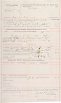 "Miscellaneous:Ephemera, Ezekiel ""Zeke"" Proctor: 1892 Document Signed by the Famous Cherokee Indian Lawman...."