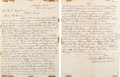 "Autographs:Celebrities, ""Diamond Dick"" Tanner Letter Referencing Custer, Buffalo Bill, andMore...."