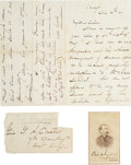 Autographs:Military Figures, Sheridan & Custer: An Outstanding Content Letter to Custer from his Longtime Patron....
