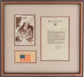 Autographs:Military Figures, Geronimo: A Very Desirable Form of this Sought-After Autograph....