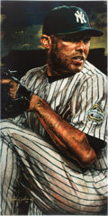 Baseball Collectibles:Others, 2010 Mariano Rivera Hand Enhanced Giclee on Canvas by StephenHolland....