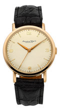 Timepieces:Wristwatch, International Watch Co. Very Fine Pink Gold Wristwatch, circa 1957. ...