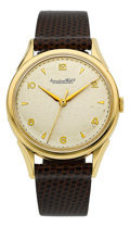 Timepieces:Wristwatch, International Watch Co. 18k Gold Wristwatch With Fancy Lugs, circa 1956. ...