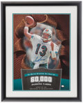 Football Collectibles:Photos, Dan Marino Signed Oversized Display....
