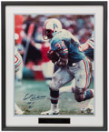 Football Collectibles:Photos, Earl Campbell Signed Oversized Photograph....