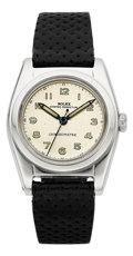Timepieces:Wristwatch, Rolex Ref. 2940 Steel Bubble Back, circa 1940's. ...