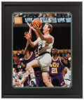 Basketball Collectibles:Photos, Larry Bird Signed Oversized UDA Photograph....