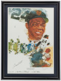 Baseball Collectibles:Others, Willie Mays Signed Lithograph....
