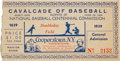 Baseball Collectibles:Others, 1939 Cavalcade of Baseball Ticket Stub. ...