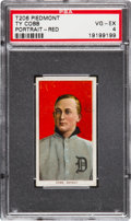 Baseball Cards:Singles (Pre-1930), 1909-11 T206 Sweet Caporal Ty Cobb, Red Portrait PSA VG-EX 4. ...