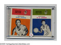 Basketball Cards:Lots, 1961 Fleer Basketball Group Lot of 2. Two members of the Boston Celtic dynasty that saw eleven championships between the ye...
