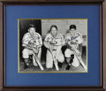 Autographs:Photos, 1948 St. Louis Cardinals Outfielders Signed Photograph. In 1948,the future HOFer Stan Musial moved from first base to join...