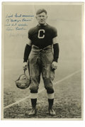 """Football Collectibles:Balls, Jim Thorpe Signed Photograph. Truly a rarity, this 7x10"""" black and white image features Jim Thorpe, arguably the finest ath..."""