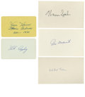 Autographs:Index Cards, Baseball Hall of Famers Signed Index Cards Lot of 5. Five glorious examples of the HOF index card are offered here. Repres...