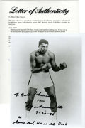 Boxing Collectibles:Autographs, Muhammad Ali Signed Photograph. Boxing immortal Ali in fightingpose. Ali was one of the most popular sports figures of all...