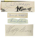 Autographs:Cut-outs, Lefty Grove Cut-Signature PSA DNA/GAI Authenticated SMR ...