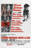 "Movie Posters:Action, From Russia With Love (United Artists, 1963). One Sheet (27"" X41""). Sean Connery returns as James Bond in this follow up to..."