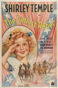 """The Littlest Rebel (Fox, 1935). One Sheet (27"""" X 41"""") Style B. Shirley Temple stars in this adorable musical a..."""
