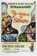 """Movie Posters:Fantasy, 7th Voyage of Sinbad (Columbia, 1958). One Sheet (27"""" X 41""""). It'sup to Sinbad the sailor to rescue a princess shrunk by an..."""