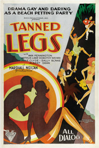 """Tanned Legs (RKO, 1929). One Sheet (27"""" X 41""""). Yes! It is pre-code Hollywood and lots of tanned legs were on..."""