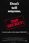 """Movie Posters:Action, Top Secret (Paramount, 1984). One Sheet (27"""" X 41""""). Jim Abrahams and the Zucker brothers direct another spoof -- this time ..."""