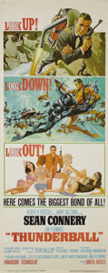 "Movie Posters:Action, Thunderball (United Artists, 1965). Insert (14"" X 36"") Style D.This rolled style ""D"" insert is stunning. There is a single ..."