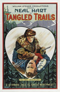 "Movie Posters:Western, Tangled Trails (William Steiner, 1921). One Sheet (27"" X 41""). NealHart stars in this silent film also known as ""Sands of S..."