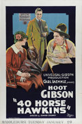 "Movie Posters:Comedy, 40-Horse Hawkins (Universal, 1924). One Sheet (27"" X 41""). Anunpolished Westerner finds himself a fish out of water on Broa..."