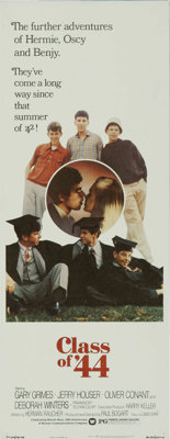 """Class of '44 (Warner Brothers, 1973). Insert (14"""" X 36""""). This sequel to """"Summer of '42"""" stars Gary..."""