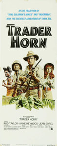 "Movie Posters:Adventure, Trader Horn (MGM, 1973). Insert (14"" X 36""). A remake of the 1931picture of the same name, this jungle adventure stars Rod ..."