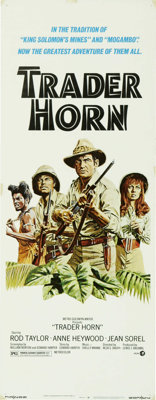 """Trader Horn (MGM, 1973). Insert (14"""" X 36""""). This re-make of the 1931 classic stars Rod Taylor, Ed Bernard, An..."""