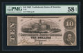 Confederate Notes:1862 Issues, T52 $10 1862 PF-1 Cr. 369. ...