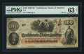 Confederate Notes:1862 Issues, T41 $100 1862 PF-15 Cr. 316. ...