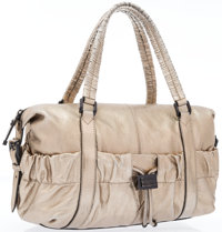 """Burberry Metallic Bronze Leather Shoulder Bag Very Good to Excellent Condition 17"""" Width x 11"""" H"""