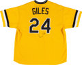 Baseball Collectibles:Uniforms, 1999 Brian Giles Game Worn Pittsburgh Pirates Throwback Jersey. ...