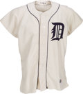 Baseball Collectibles:Uniforms, 1954 Johnny Pesky Game Worn Detroit Tigers Uniform with Family Letter....
