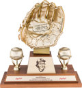 "Baseball Collectibles:Others, 1991 ""Gold Glove Hall of Fame"" Award from The Brooks RobinsonCollection...."