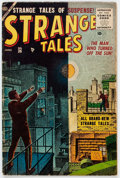 Golden Age (1938-1955):Horror, Strange Tales #36 (Atlas, 1955) Condition: GD/VG....