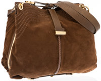 """Jimmy Choo Brown Suede & Snakeskin Ayse Hobo Bag Excellent Condition 18"""" Width x 11"""" Height x 2"""""""