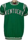 Basketball Collectibles:Uniforms, 1967-68 Kentucky Colonels Game Worn Shooting Shirt with Later ArtisGilmore Attribution....