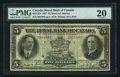 Canadian Currency: , Montreal, PQ- Royal Bank of Canada $5 Jan. 1927 Ch # 630-14-04. ...
