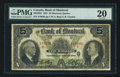 Canadian Currency: , Montreal, PQ- Bank of Montreal $5 Jan. 2, 1931 Ch. # 505-58-02. ...