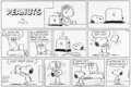 Original Comic Art:Comic Strip Art, Charles Schulz Peanuts Sunday Comic Strip Original Art dated 1-20-91(United Feature Syndicate, 1991)....