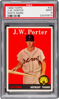 Baseball Cards:Singles (1950-1959), 1958 Topps J.W. Porter White Name #32 PSA Mint 9....