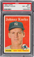 Baseball Cards:Singles (1950-1959), 1958 Topps Johnny Kucks #87 PSA NM-MT+ 8.5....