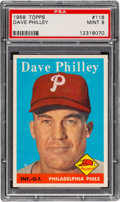 Baseball Cards:Singles (1950-1959), 1958 Topps Dave Philley #116 PSA Mint 9....