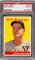 Baseball Cards:Singles (1950-1959), 1958 Topps Bob Keegan #200 PSA Mint 9 - Pop Three, None Higher!...