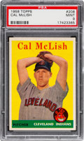 Baseball Cards:Singles (1950-1959), 1958 Topps Cal Mclish #208 PSA Mint 9 - Pop Three, None Higher!...