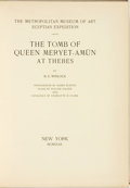 Books:World History, H. E. Winlock. The Tomb of Queen Meryet-Amun at Thebes. New York: The Metropolitan Museum of Art Egyptian Expedition...